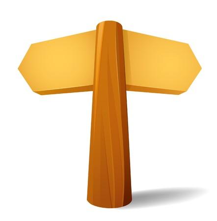 Wooden waymark pointer Stock Vector - 8267241