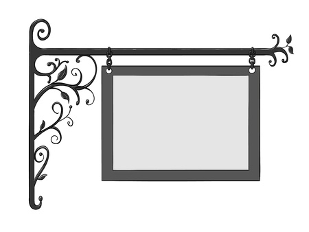 ironwork: Vector wrought iron signs for old-fashioned design Illustration