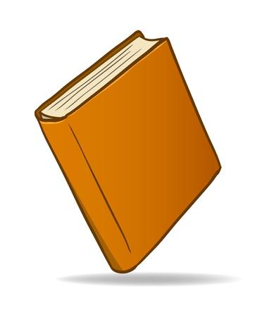 libro caricatura:   Ilustraci�n de un libro de dibujos animados aislado en fondo blanco