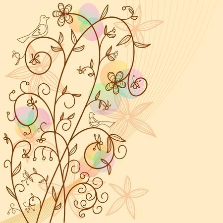 illustration. Floral abstract backgrounds art illustration element for design Vector