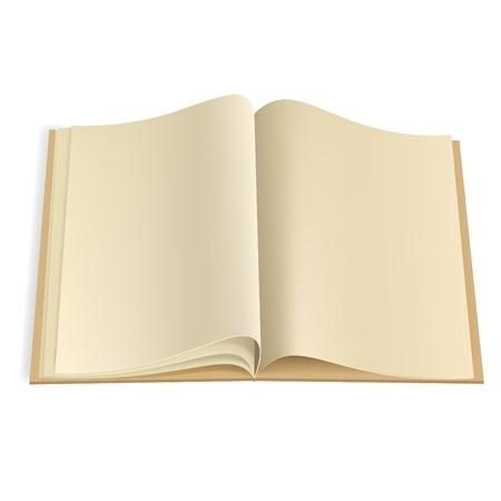 copertina libro antico: Illustrazione vettoriale. Pagine bianche rivista o una nota di libro modello struttura