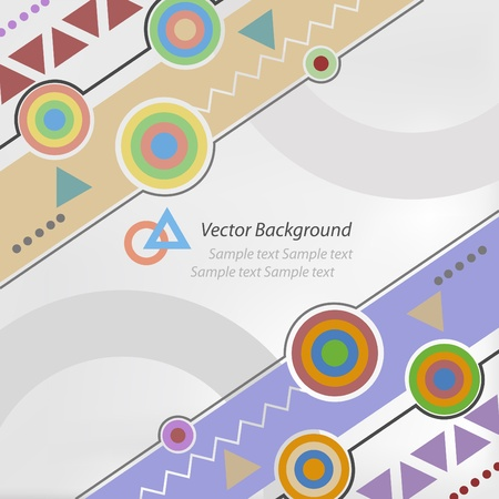 technology collage: vector illustration. an abstract technology background with basic shape