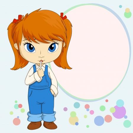 Ilustración del vector de la muchacha linda del pequeño país de pie con el caramelo Ilustración de vector