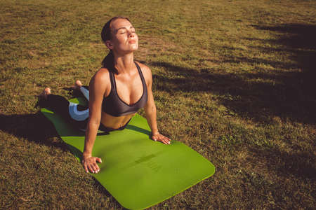 girl doing yoga and sports