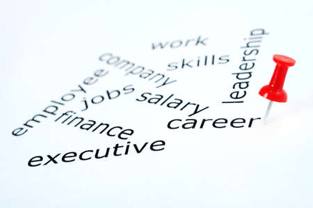 Career word pinned on paper photo