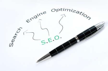 SEO word scheme and pen photo