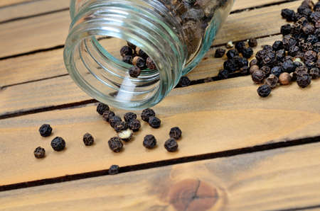 peppercorn: peppercorn on wooden table Stock Photo