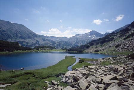 balkans: Muratovo lake, Pirin mountain, National Park, Bulgaria, Balkans Stock Photo