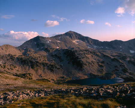 travelled: Pirin mountain, A ridge named Bunderishki chukar Stock Photo