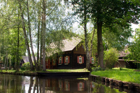 residential idyll: old house in the Spreewald
