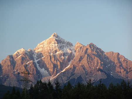 Alps in the evening