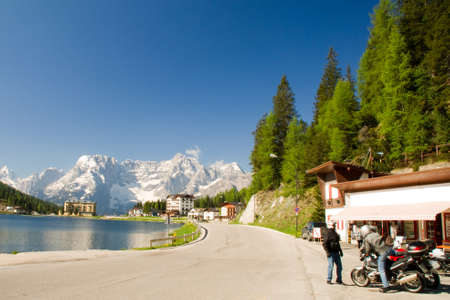 lake misurina: Lago Misurina South Tyrol Dolomites Lake Road
