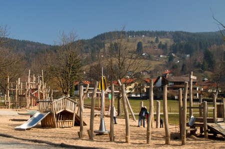 kita: Playground outdoor wooden piers children