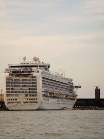 honeymoons: Cruise ship in the harbor