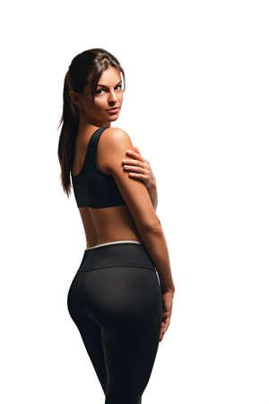 booty: gentle athletic woman posing