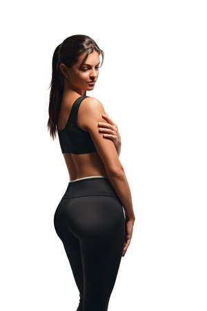 Sexy gentle athletic woman posing Imagens