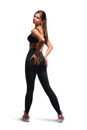 Sexy athletic woman posing