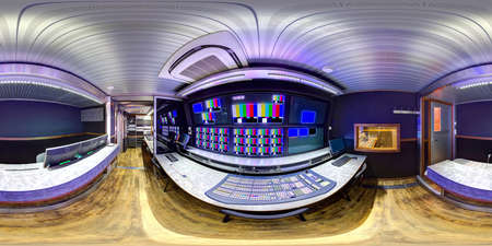 acoustics: panorama 3d obvan panorama video director module inside ob vans 3d panorama inside ob van broadcast videographer compartment 360 panorama obvan compartment videostudio video air video director.