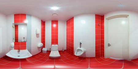 closet door: Restroom with toilet and washbasin