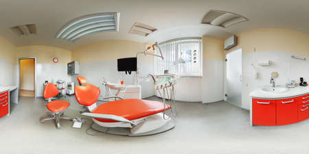 Panorama 360 degree inside dental clinic
