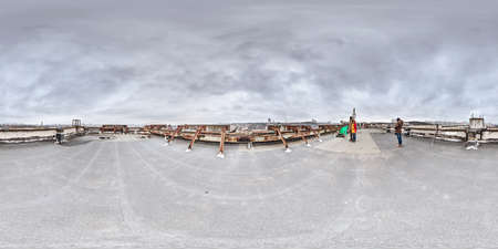 3d 360 degree panorama with people