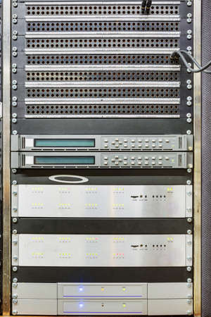 Ob van control panels racks Stockfoto