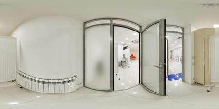 Virtuelle Panoramen 360 Klinikkomplex mit Labors Standard-Bild
