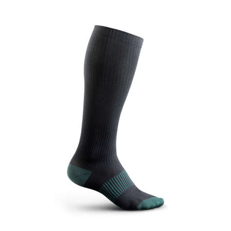 Socks in gaiters of black color with birch inserts. Compression sock for sports activities Standard-Bild