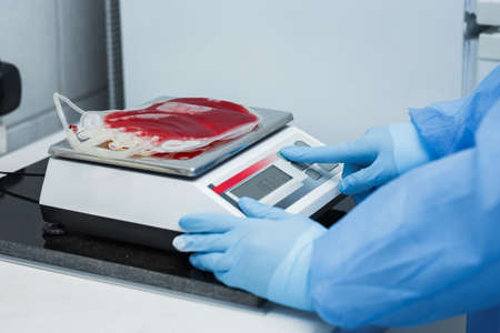Blood donation preparation of placenta for cryopreservation. Manufacturing of medical products for further clinical use