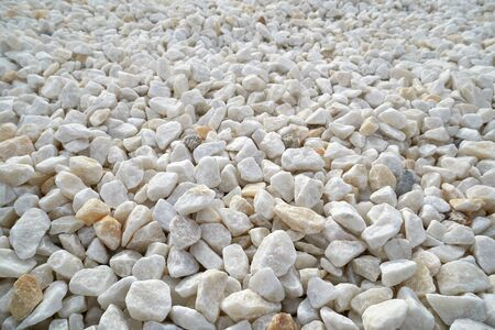 Texture, pattern, background. marble chips for landscaping pebbles samples, marble pebbles Stock Photo