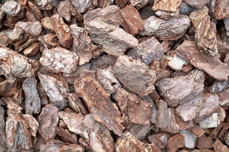 Image red brown wood bark chips texture background Archivio Fotografico - 134723252