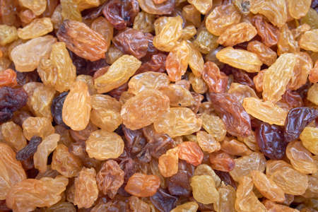 scattered raisins as a background on the surface