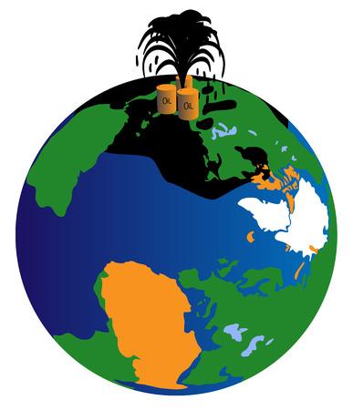 response: Gulf of Mexico Oil Spill Response Illustration