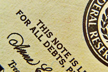 Dollar bill detail with a rich paper texture