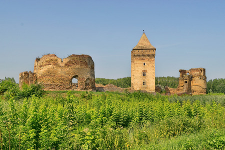 Medieval fortress from the 14th century made by Kingdom of Hungary, today located in Vojvodina, Serbia. Captured from the West side.