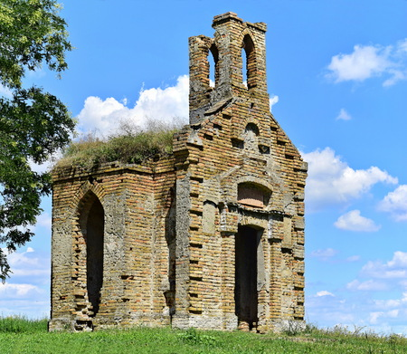 Abandoned small church on the top of the hill