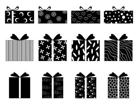 Set of gift boxes illustrated on white Vector