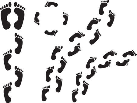 Set of human steps illustrated on white Vector