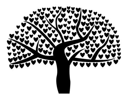 Love tree illustrated on white Vector