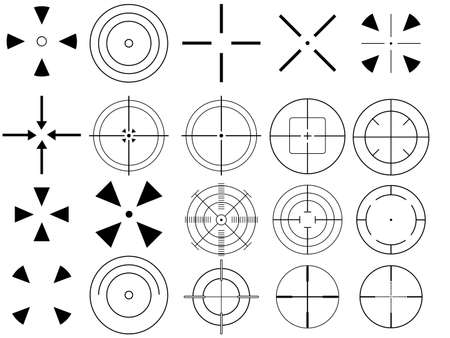 Set of targets illustrated on white background Stock Vector - 22562106