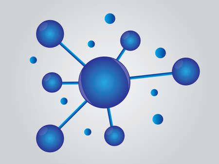 Topic diagram on white background