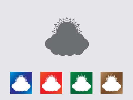partial: Nube conjunto de iconos ilustraci�n