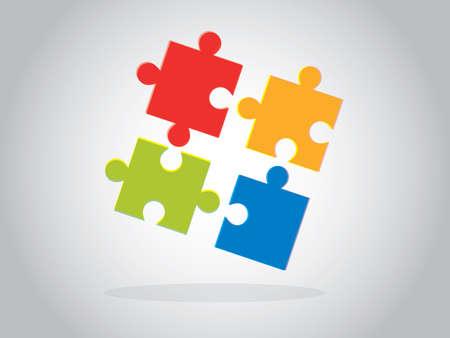 Multicolor puzzle pieces illustration