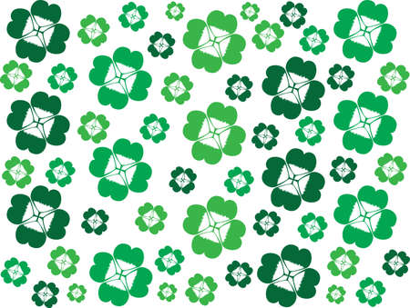 Clover leafs on white background Vector