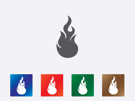 Flames icons illustration Stock Vector - 26536651