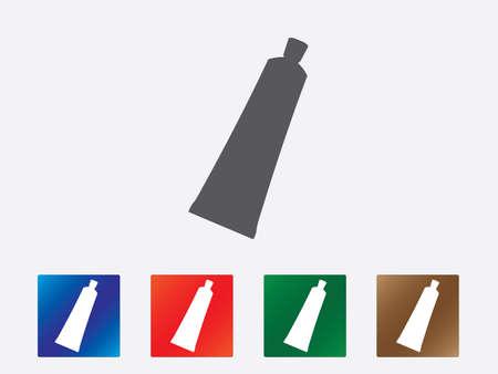 cream tube: Cream tube icons illustration