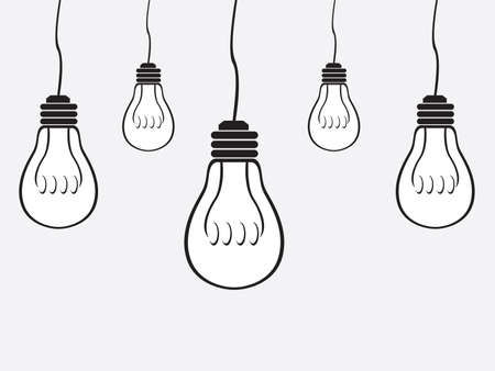 gray bulb: Simple bulb gray background Illustration