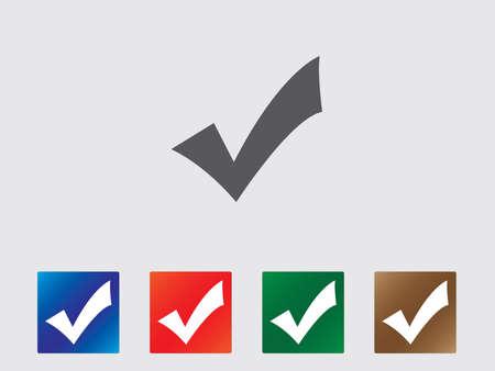 Accept icons illustration Illustration