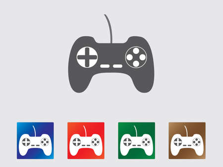 Game controller icon collection Illustration
