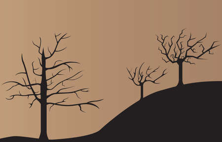 dead trees: Sad dark dead trees background